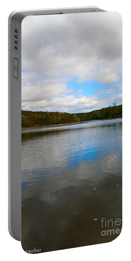 Landscape Portable Battery Charger featuring the photograph Earth Sky Water by Susan Herber