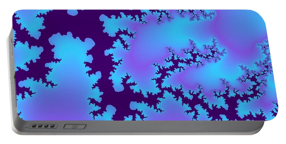 Digital Art Portable Battery Charger featuring the digital art Earthquake by Christy Leigh