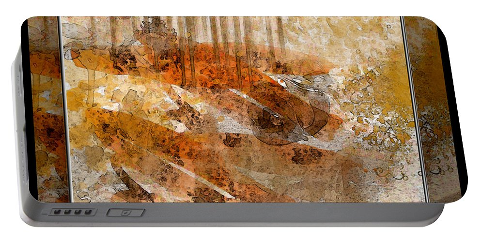 Abstract Portable Battery Charger featuring the photograph Earthtones Abstract by Debbie Portwood