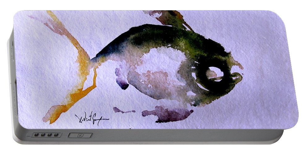 Fish Portable Battery Charger featuring the painting Echo Fish Fourteen by J Vincent Scarpace