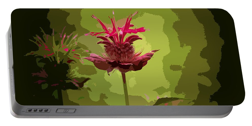 Flower Portable Battery Charger featuring the photograph Editing With One Eye Open by Trish Tritz