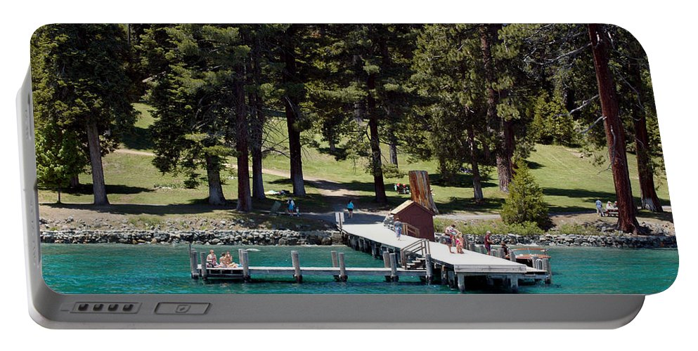 Usa Portable Battery Charger featuring the photograph Ehrman Mansion Sugar Pine Point State Park by LeeAnn McLaneGoetz McLaneGoetzStudioLLCcom