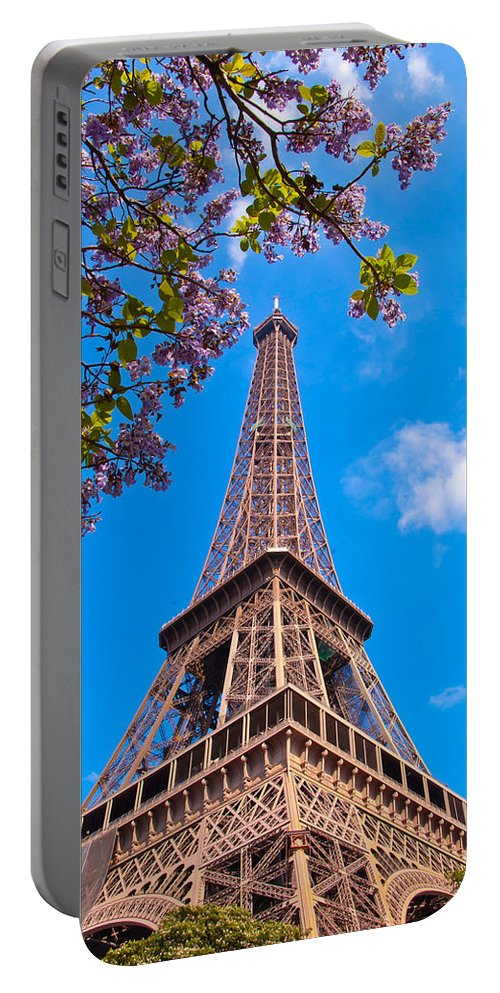France Portable Battery Charger featuring the photograph Eiffel Tower by Jon Berghoff