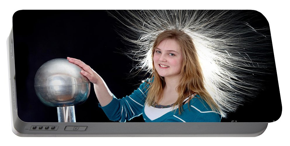 Electrostatic Portable Battery Charger featuring the photograph Electrostatic Generator, 7 Of 8 by Ted Kinsman