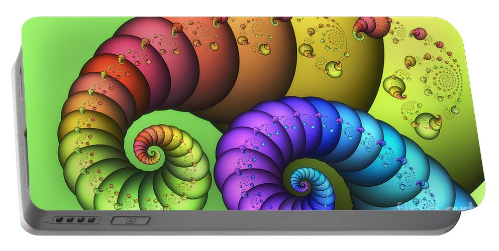 Fractal Portable Battery Charger featuring the digital art Elephantine by Jutta Maria Pusl