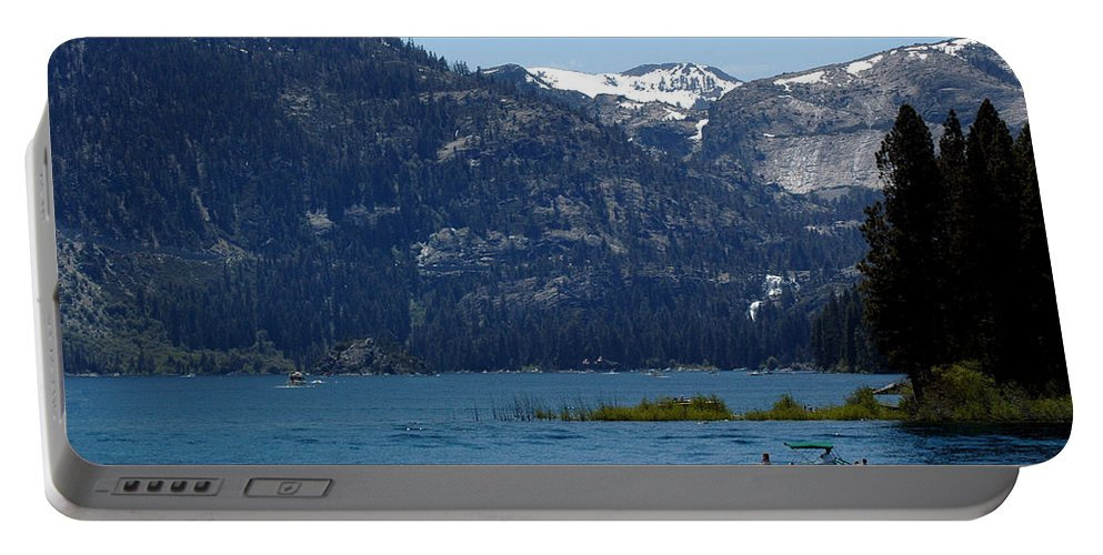Usa Portable Battery Charger featuring the photograph Emerald Bay by LeeAnn McLaneGoetz McLaneGoetzStudioLLCcom