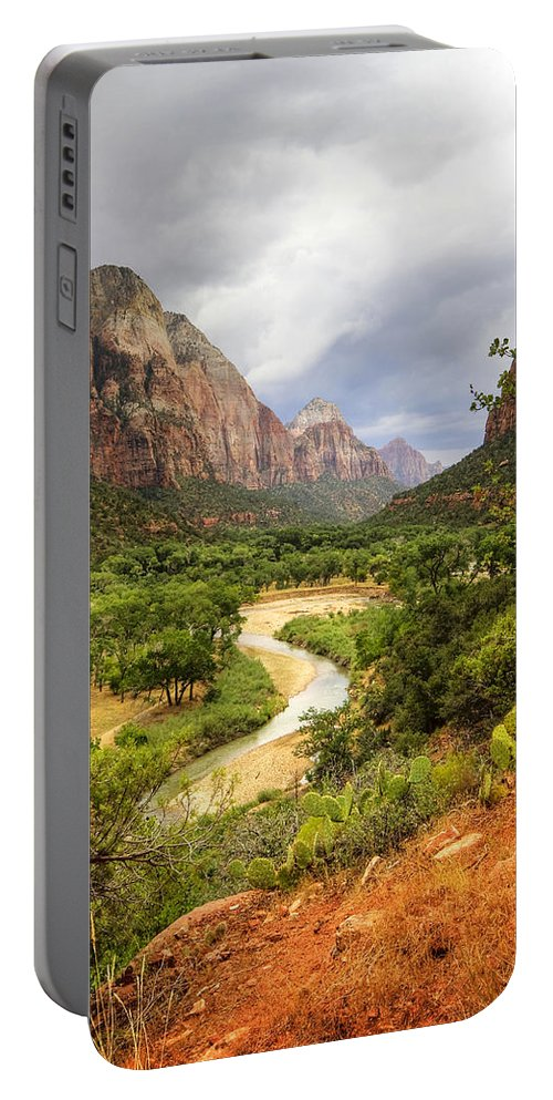 Zion Portable Battery Charger featuring the photograph Emerald Pools Trail 3 by Jessica Velasco