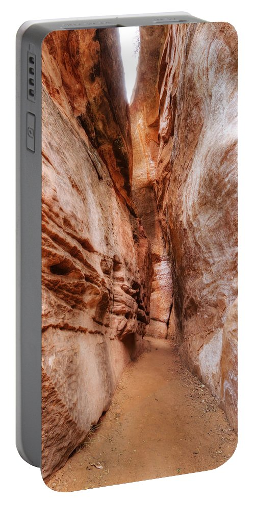 Trail Portable Battery Charger featuring the photograph Emerald Pools Trail 4 by Jessica Velasco