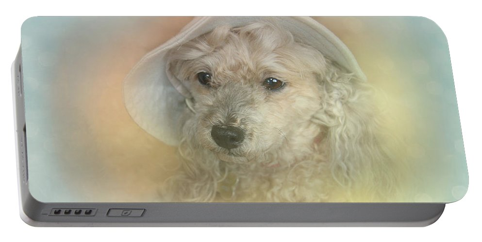 Emily Portable Battery Charger featuring the photograph Emily's Bonnet by Diana Haronis