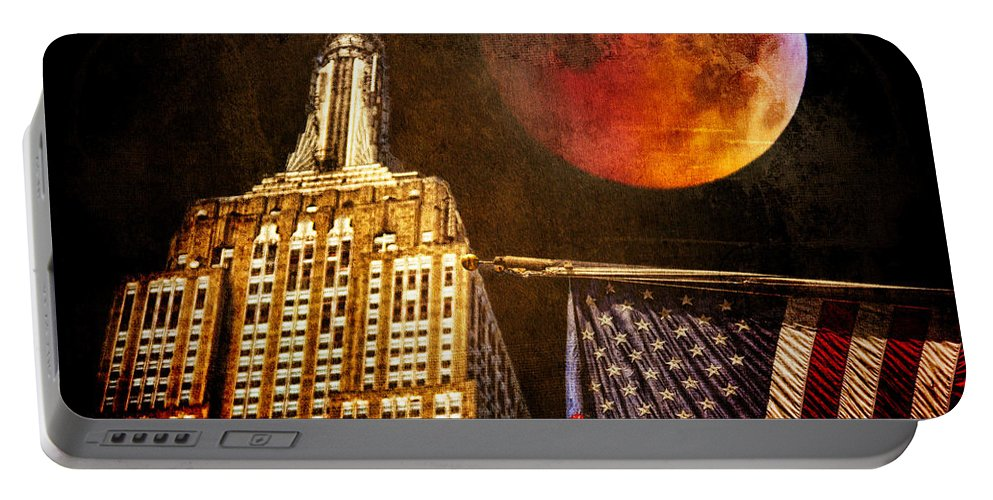 Moon Portable Battery Charger featuring the photograph Empire Solstice by Chris Lord