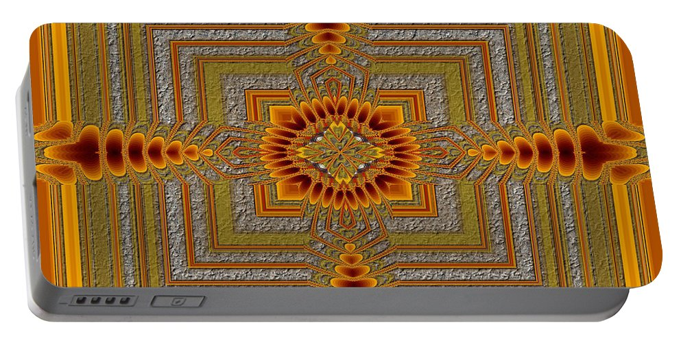 Ultra Fractal Portable Battery Charger featuring the digital art Empowered by Mario Carini