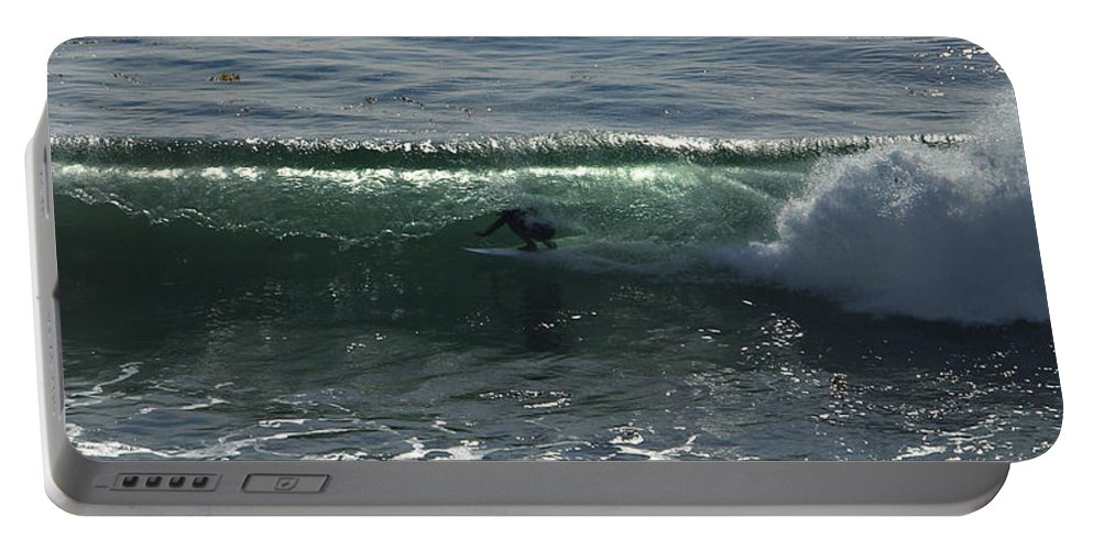 Surf Portable Battery Charger featuring the photograph Enclosed by Joe Schofield