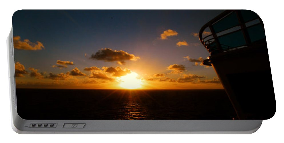 Sunset Portable Battery Charger featuring the photograph End Of The Day by Gary Wonning