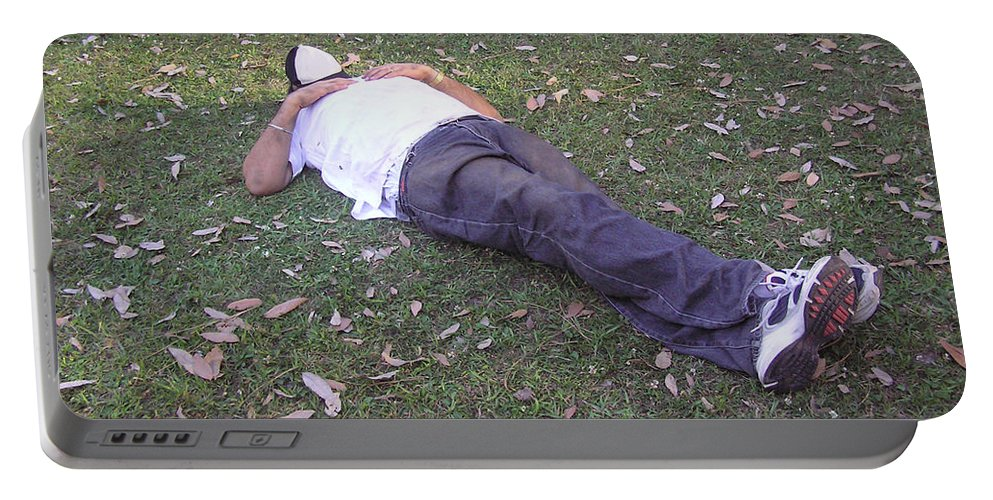 Relax Portable Battery Charger featuring the photograph Enjoying A Snooze In A Partially Shaded Green Meadow by Ashish Agarwal