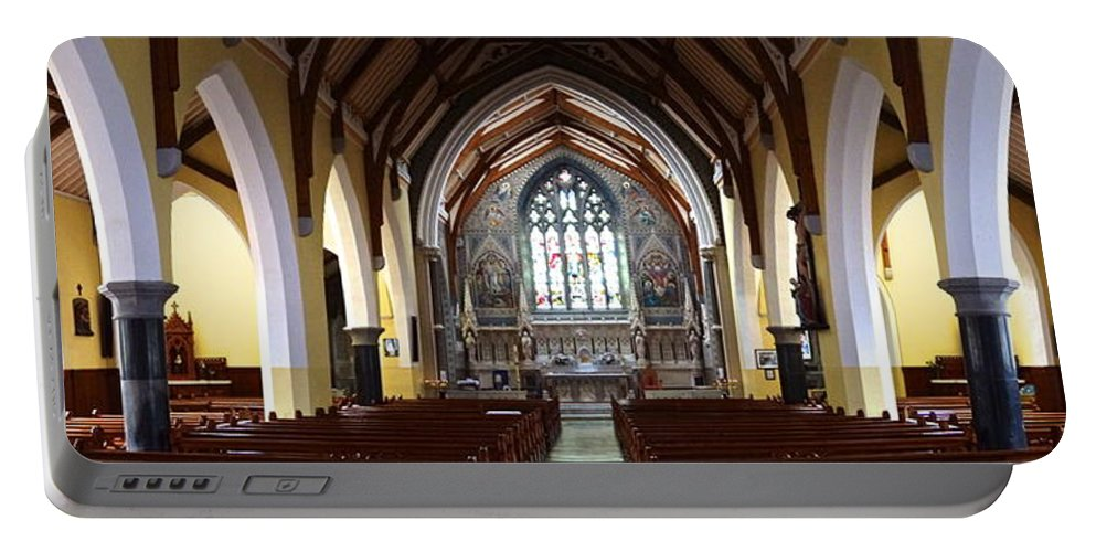 Church Portable Battery Charger featuring the photograph Ennis Cathedral by Charlie and Norma Brock