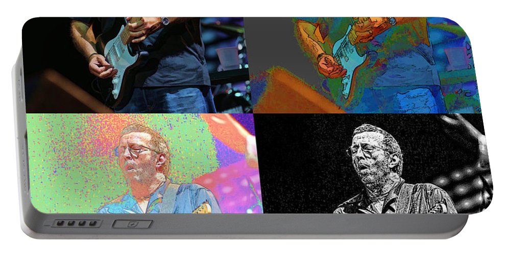 Eric Clapton Portable Battery Charger featuring the photograph Eric Clapton Pop by Tommy Anderson