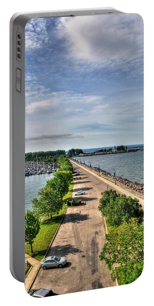 Portable Battery Charger featuring the photograph Erie Basin Marina Summer Series 0001 by Michael Frank Jr