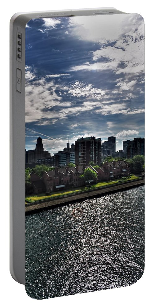 Portable Battery Charger featuring the photograph Erie Basin Marina Summer Series 0003 by Michael Frank Jr