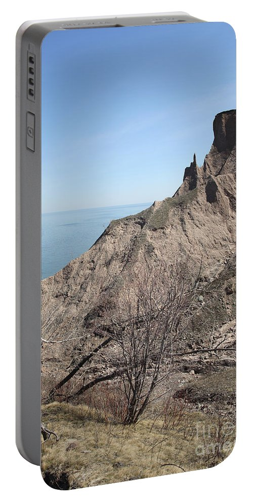 Erosion Portable Battery Charger featuring the photograph Erosion Of Glacial Drumlin by Ted Kinsman