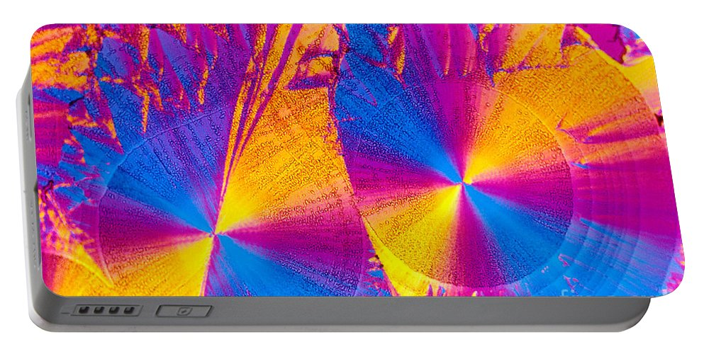 Chemistry Portable Battery Charger featuring the photograph Erythromycin Crystal by Michael W. Davidson