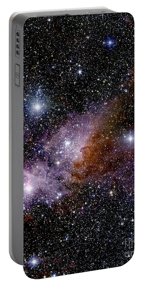 2mass Portable Battery Charger featuring the photograph Eta Carinae Nebula, Infrared Image by 2MASS project / NASA