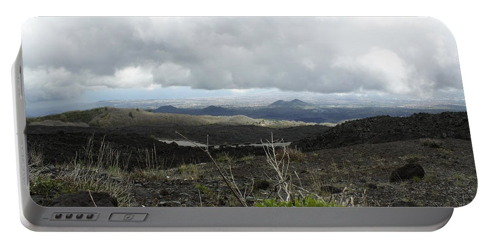 Portable Battery Charger featuring the photograph Etna's Landscape by Donato Iannuzzi