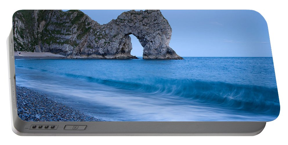 Durdle Portable Battery Charger featuring the photograph Evening At Durdle Door by Ian Middleton
