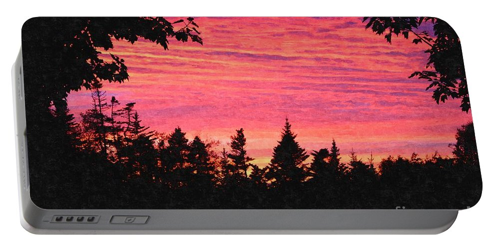 Evening In Paradise Portable Battery Charger featuring the digital art Evening In Paradise Painterly Style by Barbara Griffin