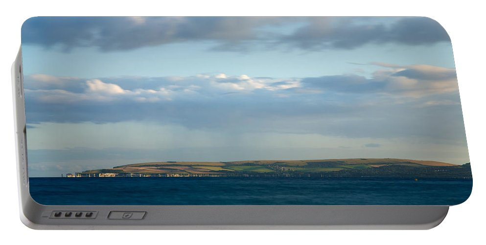 Bournemouth Portable Battery Charger featuring the photograph Evening Light Across Handfast Point by Ian Middleton