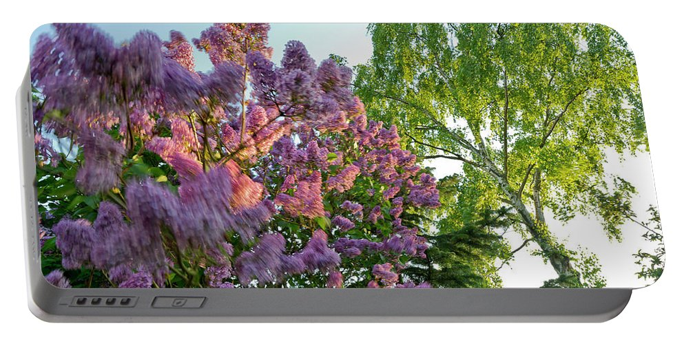 Foliage Portable Battery Charger featuring the photograph Evening Lilac by Gary Eason