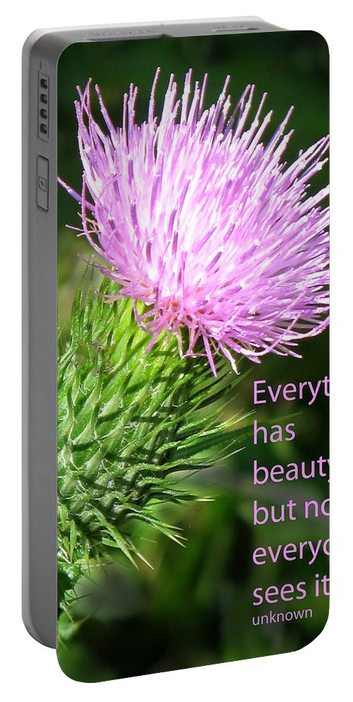 Weed Portable Battery Charger featuring the photograph Everything Has Beauty by Ian MacDonald