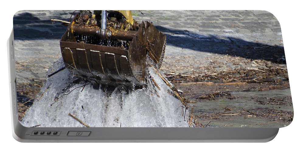 Excavator Portable Battery Charger featuring the photograph Excavator by Mats Silvan