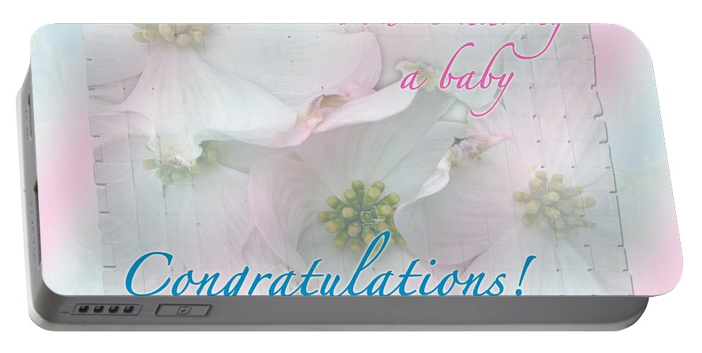 Expecting Baby Congratulations Card Portable Battery Charger For