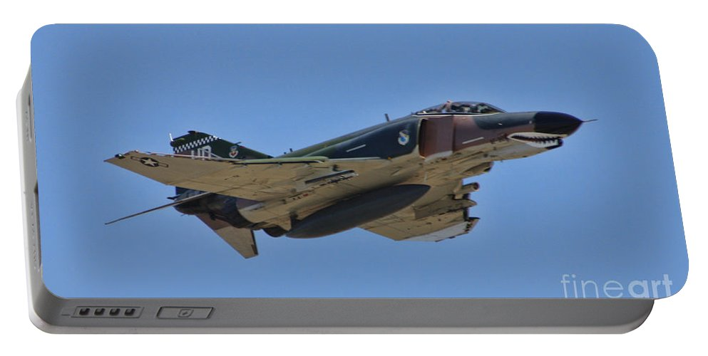 Portable Battery Charger featuring the photograph F-4 Phantom II by Tommy Anderson