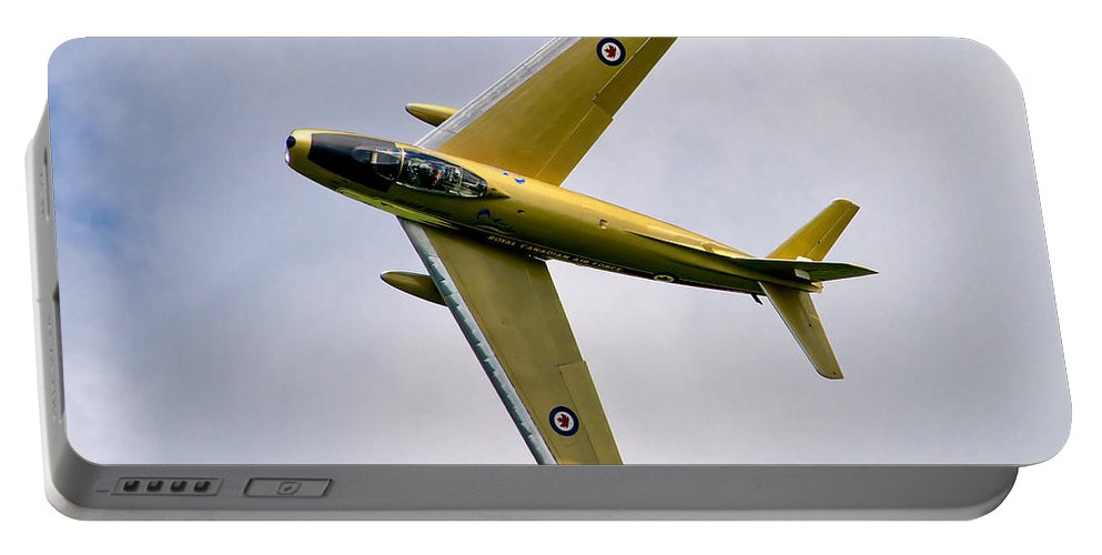 Airshows Portable Battery Charger featuring the photograph F-86 Sabre Topside by Bill Lindsay