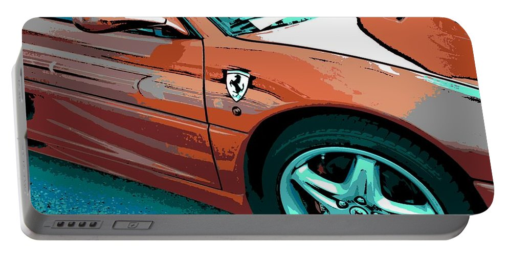 Ferrari Portable Battery Charger featuring the photograph F355 Spider by George Pedro