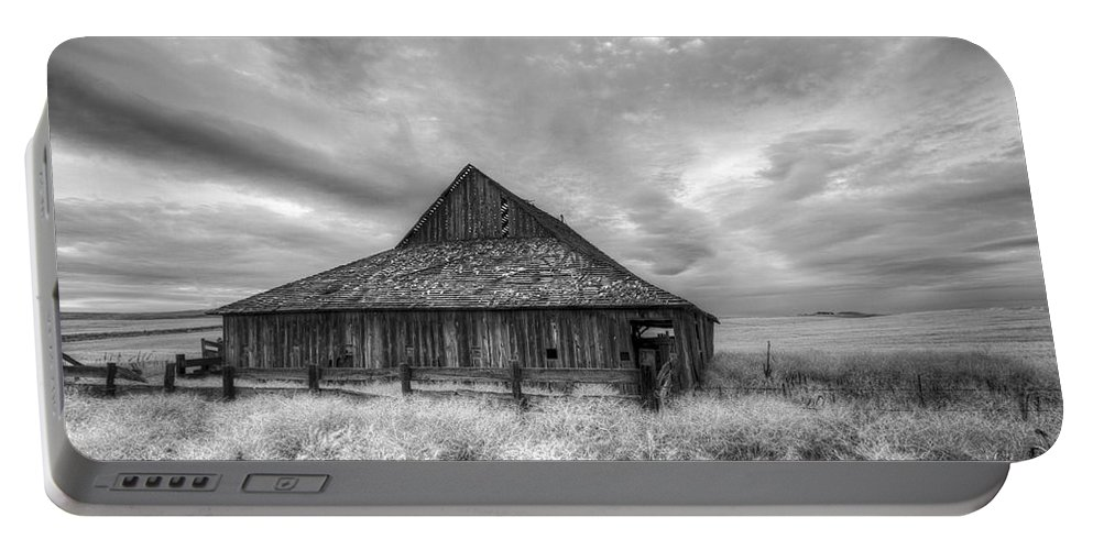 Barn Portable Battery Charger featuring the photograph Faded With Age by Jean Noren
