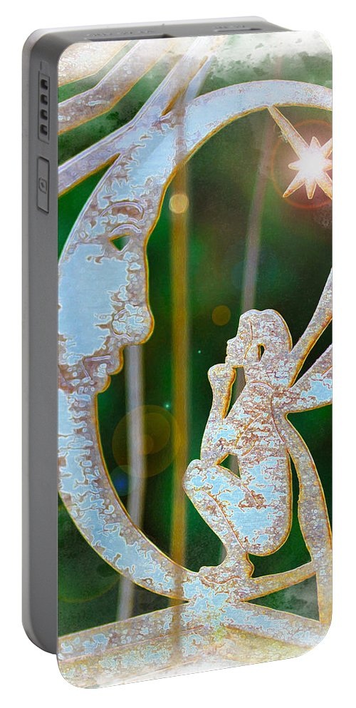 Faery Portable Battery Charger featuring the photograph Faery Moon by Diana Haronis