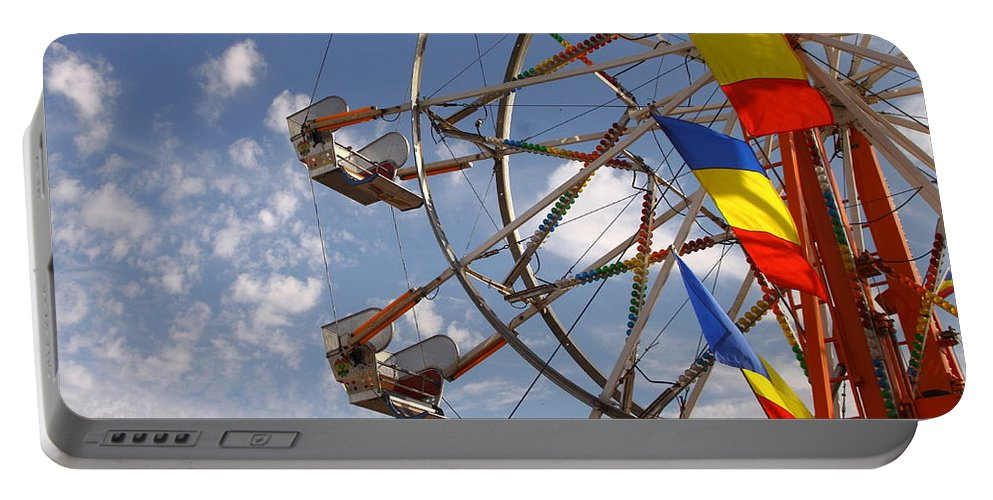 Carnival Portable Battery Charger featuring the photograph Fair Day by Robert Frederick