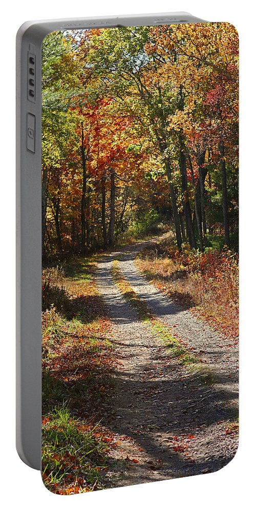 Autumn Portable Battery Charger featuring the photograph Fall On The Wyrick Trail by Denise Romano