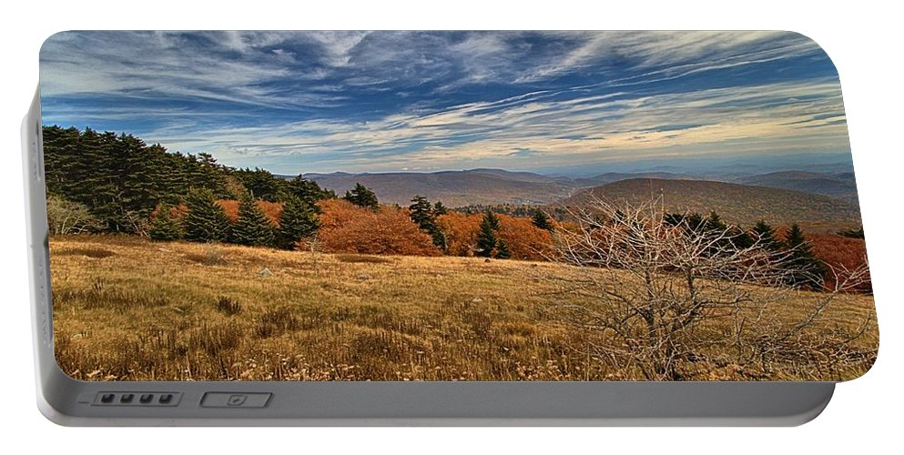 Fall Portable Battery Charger featuring the photograph Fall On Whitetop Mountain by Mel Hensley