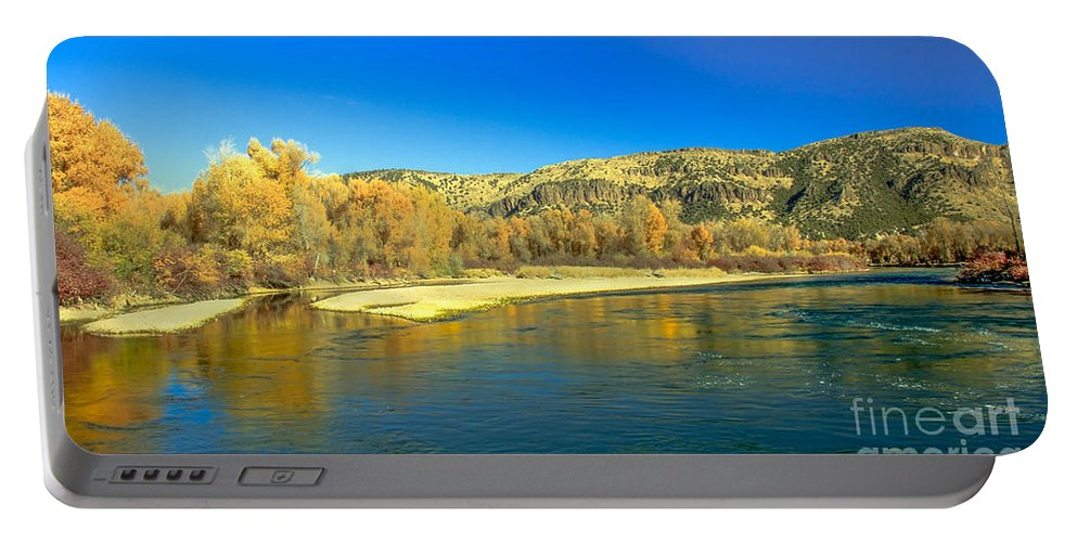 Idaho Portable Battery Charger featuring the photograph Fall Reflections by Robert Bales