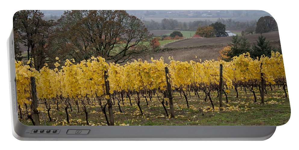 Vineyard Portable Battery Charger featuring the photograph Fall Scenic by Jean Noren