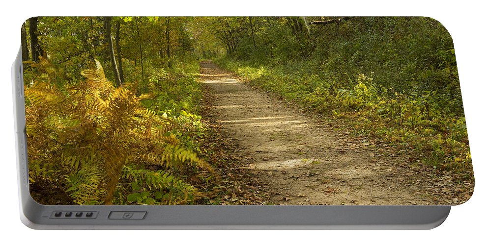 Trail Portable Battery Charger featuring the photograph Fall Trail Scene 27 by John Brueske