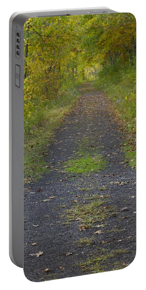 Trail Portable Battery Charger featuring the photograph Fall Trail Scene 30 by John Brueske