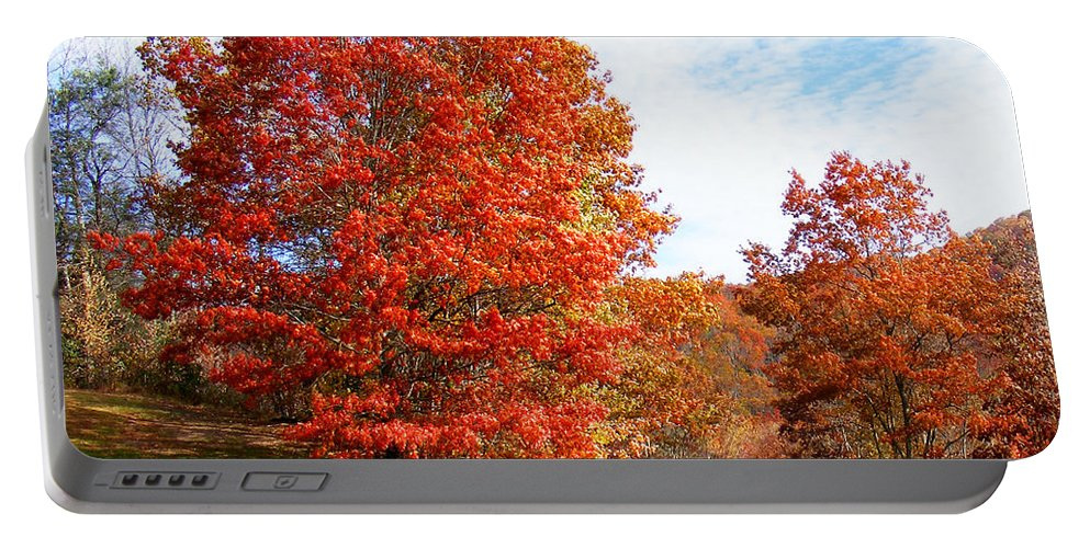 Fall Portable Battery Charger featuring the photograph Fall Tree By The Road by Duane McCullough
