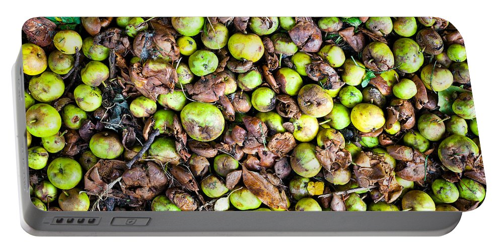 Agricultural Portable Battery Charger featuring the photograph Fallen Apples by Tom Gowanlock