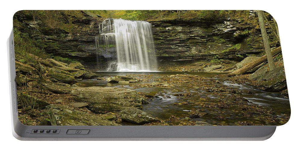 Landscape Portable Battery Charger featuring the photograph Falls Panorama by Fran Gallogly