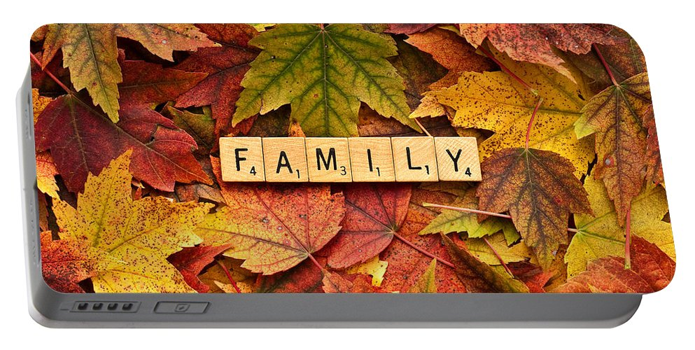 Believe Portable Battery Charger featuring the photograph Family-autumn Inpsireme by Onyonet Photo Studios