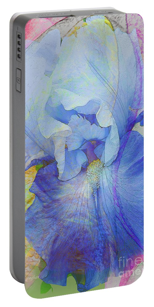 Iris Portable Battery Charger featuring the photograph Fanciful Flowers - Iris by Regina Geoghan